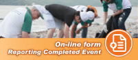 On-line form Reporting Completed Event