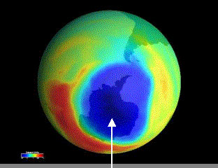 Image of Severe Drop in Ozone Concentration