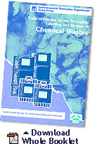 Image of Code of Practice on the Packaging, Labelling and Storage of Chemical Wastes Download Whole Booklet