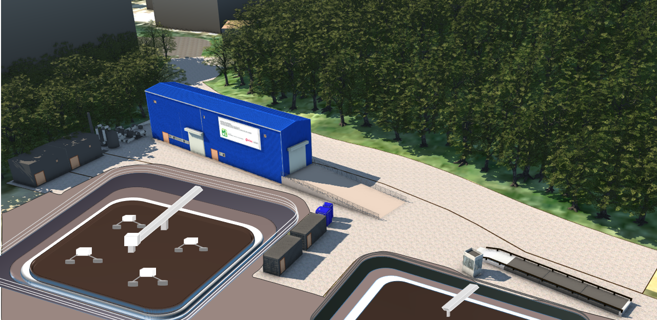 Artist Impression of the food waste pretreatment facilities