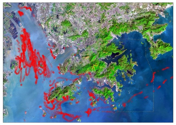 Simulation of Dispersion of Marine Refuse under Southwesterly Wind and Sea Current
