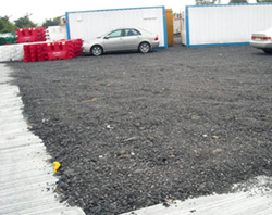 Open area paved with bitumen