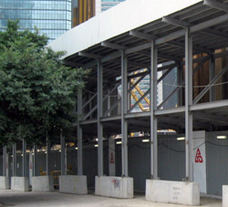 Double deck hoarding for building construction works