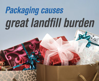 Packaging causes great landfill burden