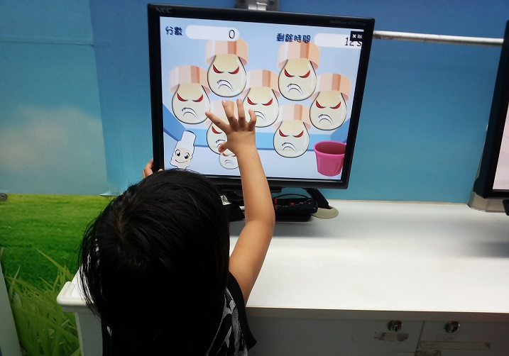 Children are queuing up for the interactive games