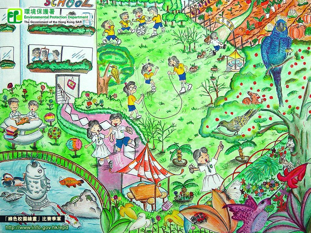 初中美丽的校园图画内容图片展示_初中美丽的校园图片